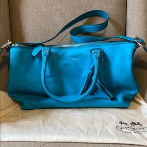 Blue Coach Shoulder Purse